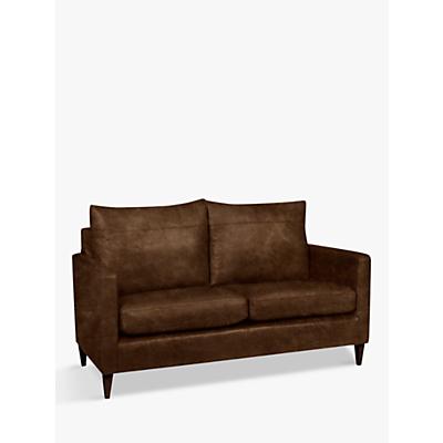 John Lewis & Partners Bailey Leather Small 2 Seater Sofa, Dark Leg