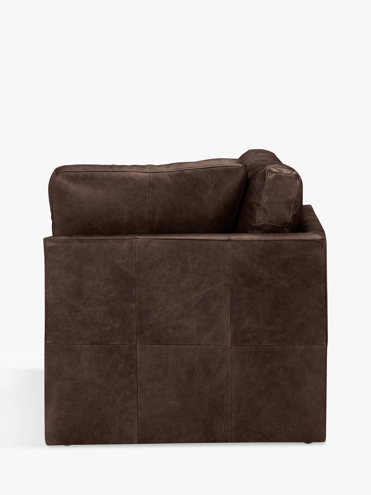 Buy House by John Lewis Oliver Leather Armless Corner Unit, Dark Leg, Contempo Dark Chocolate Online at johnlewis.com