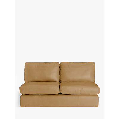 John Lewis & Partners Oliver Armless Leather Large 3 Seater Unit, Dark Leg