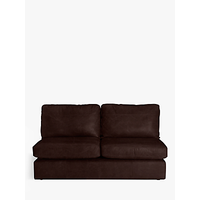John Lewis Oliver Armless Leather Large 3 Seater Unit, Dark Leg