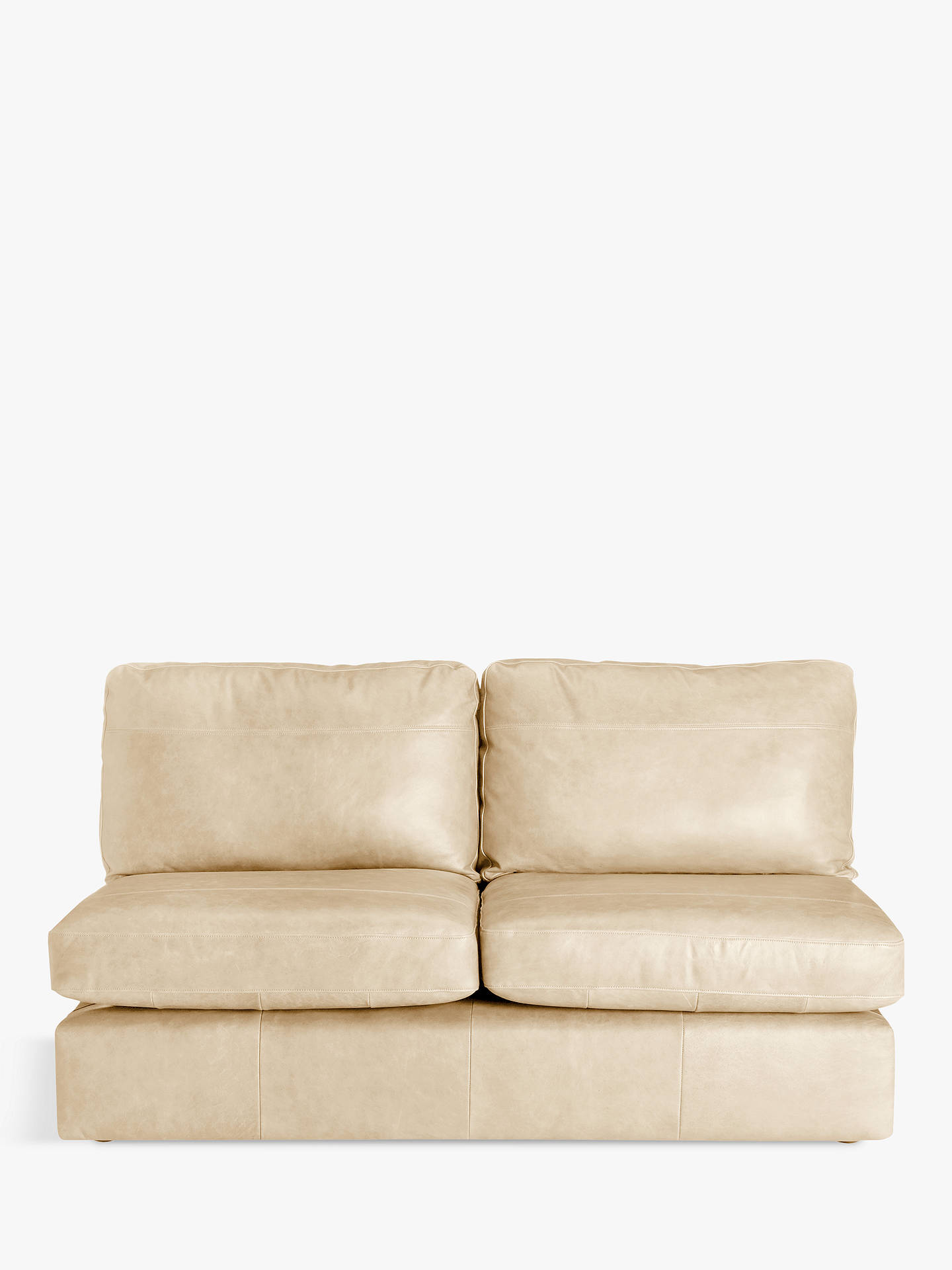 Buy House by John Lewis Oliver Armless Leather Large 3 Seater Unit, Dark Leg, Contempo Ivory Online at johnlewis.com