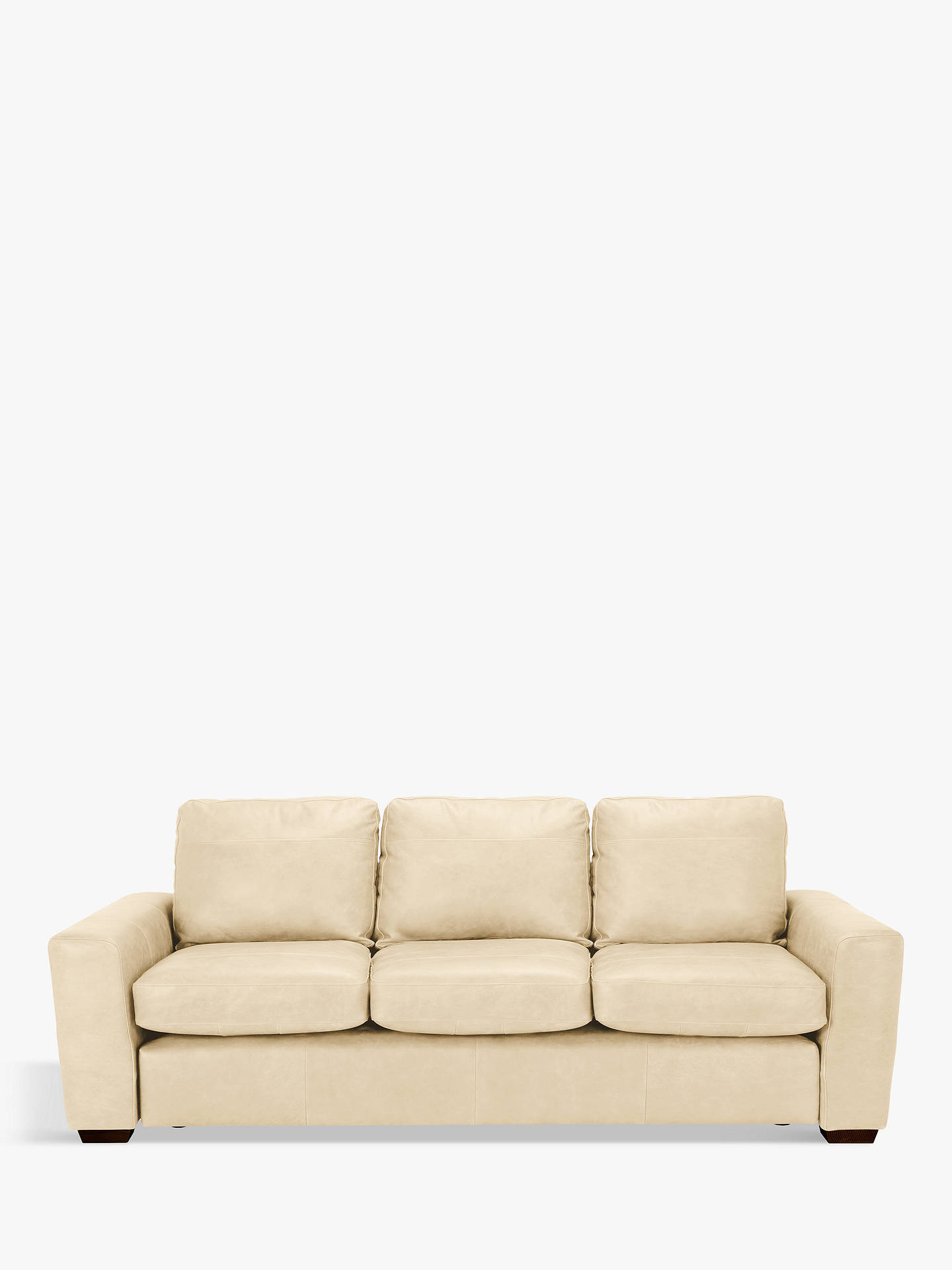 BuyHouse by John Lewis Oliver Grand 4 Seater Sofa, Dark Leg, Nature Cream Online at johnlewis.com