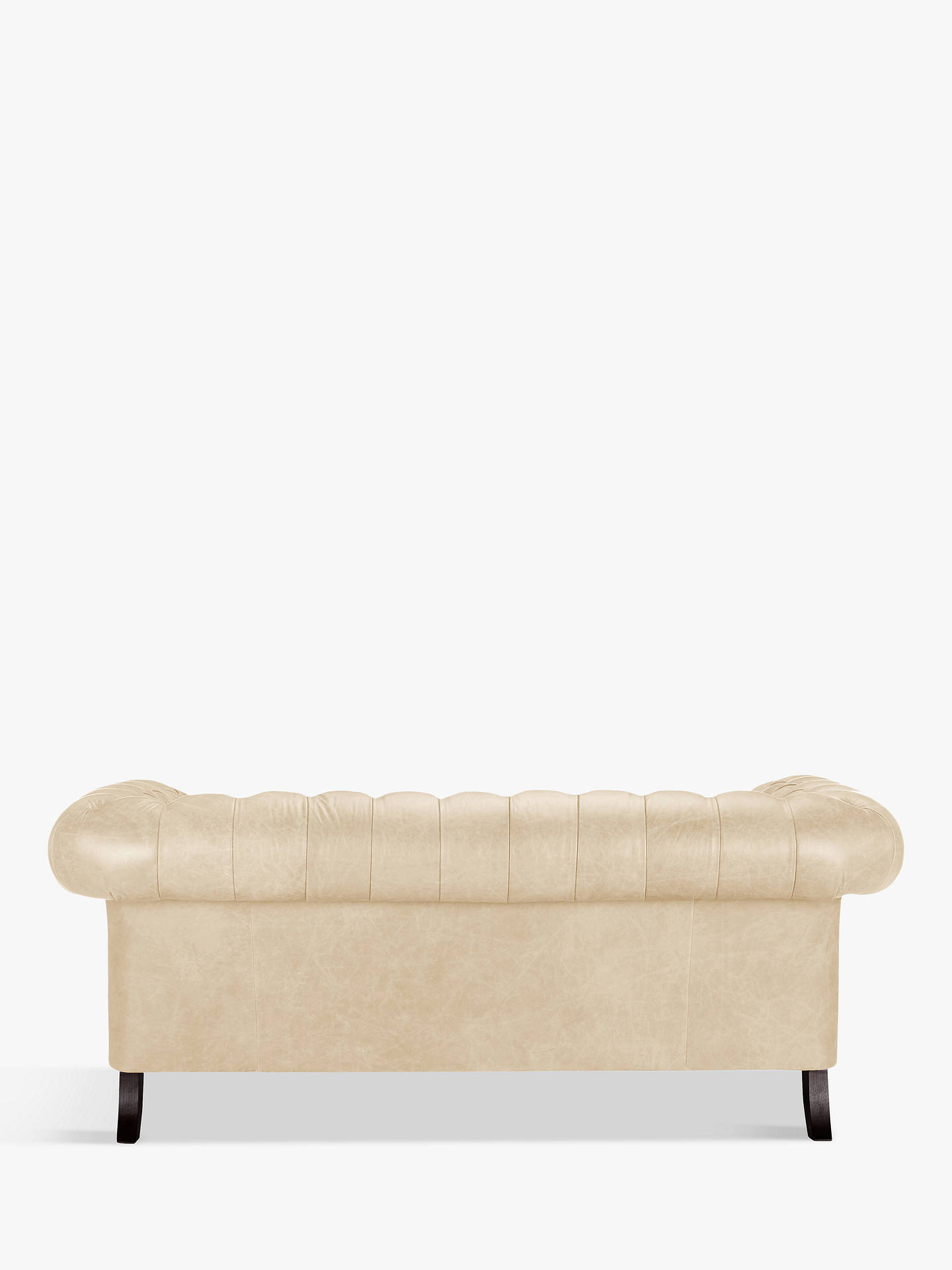 Buy John Lewis & Partners Cromwell Chesterfield Leather Large 3 Seater Sofa, Dark Leg, Contempo Ivory Online at johnlewis.com