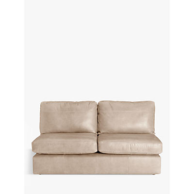 John Lewis Oliver Armless Leather Large 3 Seater Unit, Dark Leg
