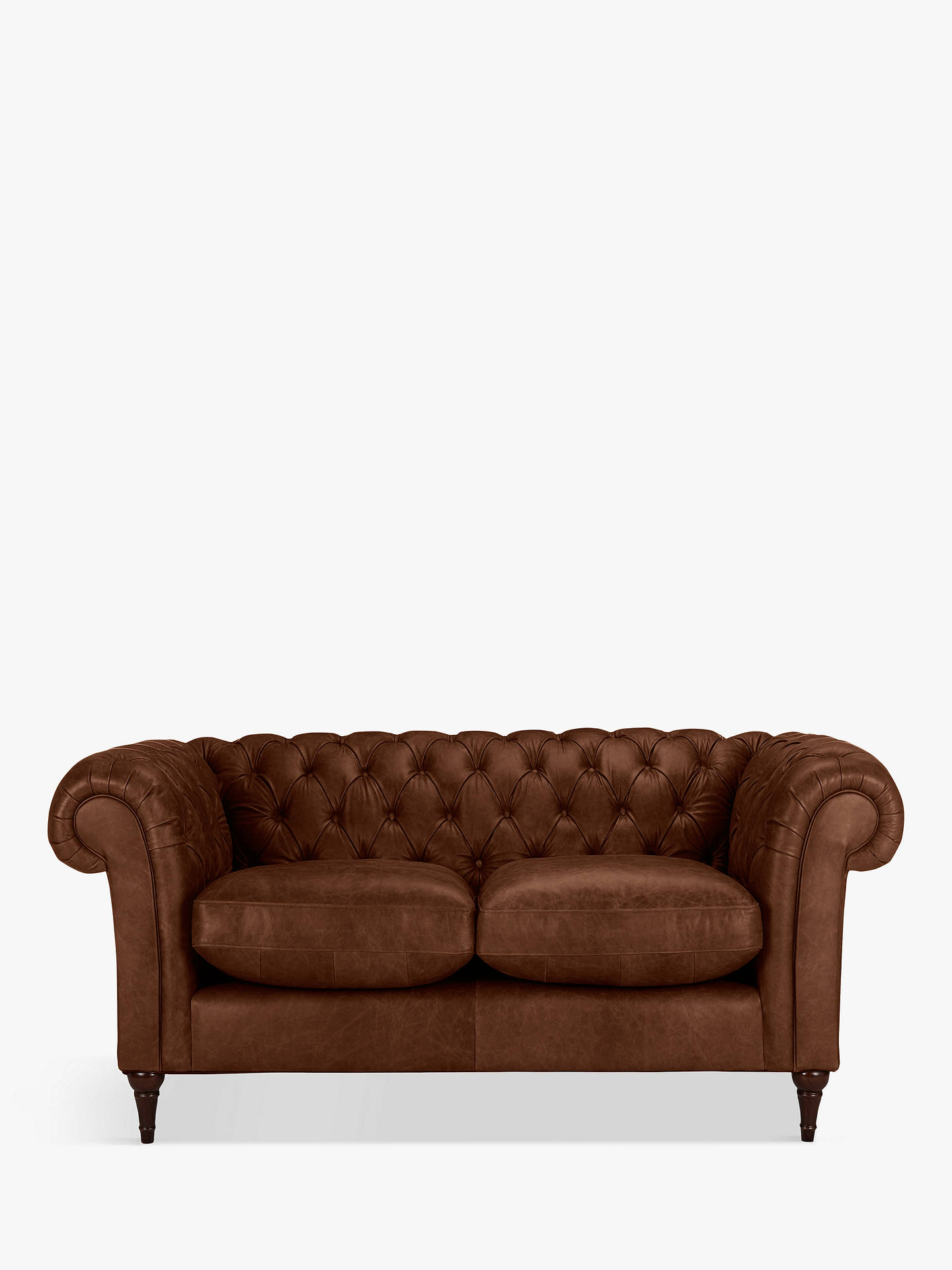 John Lewis Partners Cromwell Chesterfield Leather Small 2 Seater