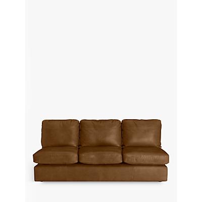 John Lewis & Partners Oliver Leather Armless Grand 4 Seater Sofa, Dark Leg