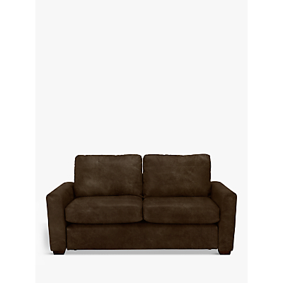 John Lewis & Partners Oliver Leather Medium 2 Seater Sofa, Dark Leg