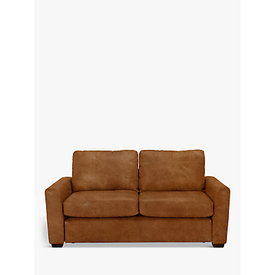 John Lewis & Partners Oliver Leather Medium 2 Seater Sofa, Dark Leg