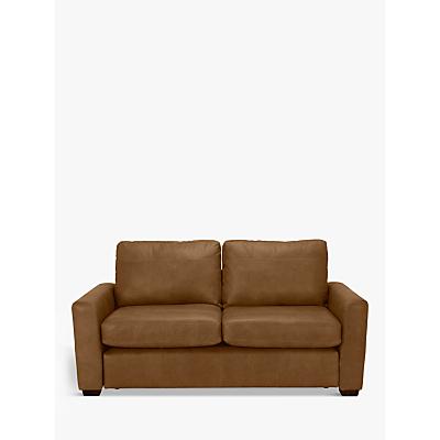John Lewis Oliver Leather Medium 2 Seater Sofa, Dark Leg