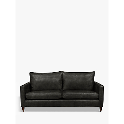 John Lewis & Partners Bailey Leather Large 3 Seater Sofa, Dark Leg