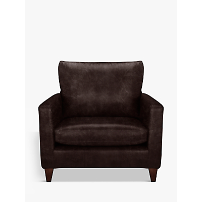 John Lewis & Partners Bailey Leather Snuggler, Dark Leg
