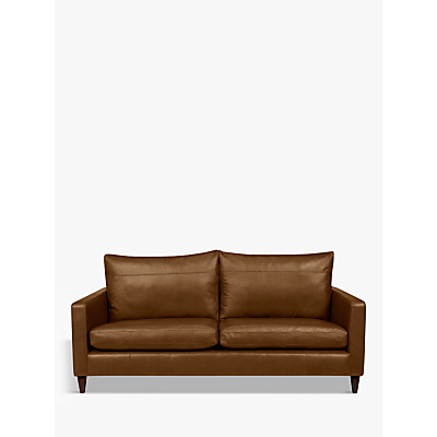 John Lewis & Partners Bailey Leather Large 3 Seater Sofa, Dark Leg