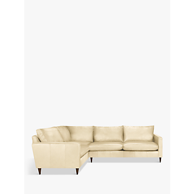 John Lewis Bailey Leather RHF Corner End Sofa, Dark Leg
