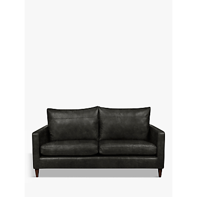 John Lewis Bailey Leather Medium 2 Seater Sofa, Dark Leg