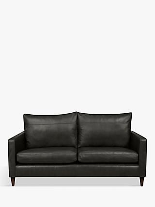 John Lewis & Partners Bailey Leather Medium 2 Seater Sofa, Dark Leg