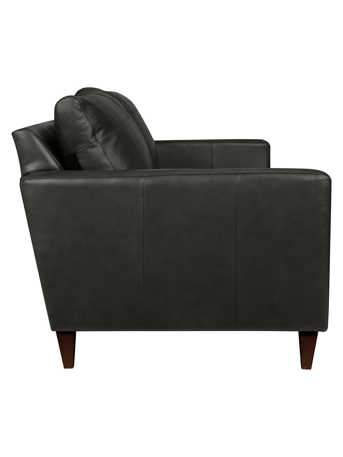 Buy John Lewis & Partners Bailey Leather Medium 2 Seater Sofa, Dark Leg, Winchester Anthracite Online at johnlewis.com