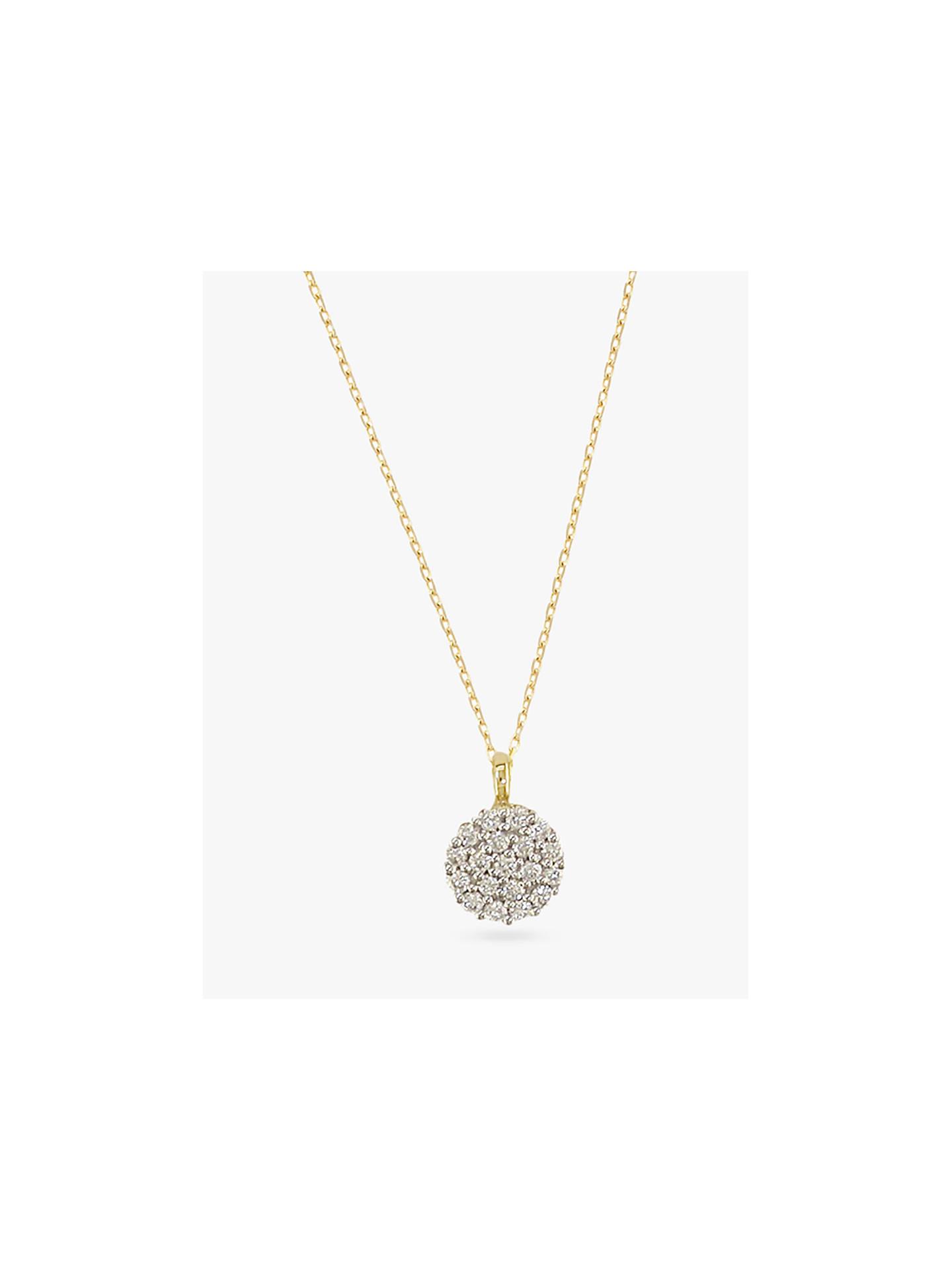 Ewa 18ct Yellow Gold Diamond Cluster Pendant Necklace, Yellow Gold by Ewa