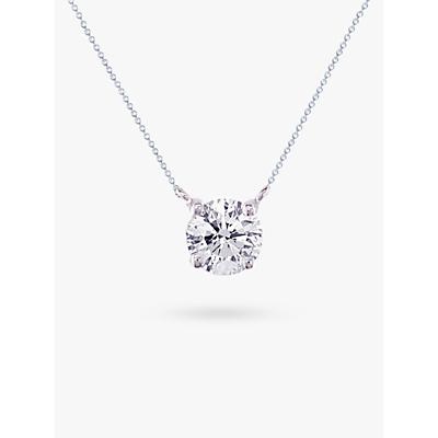 E.W Adams 18ct White Gold Solitaire Diamond Pendant Necklace