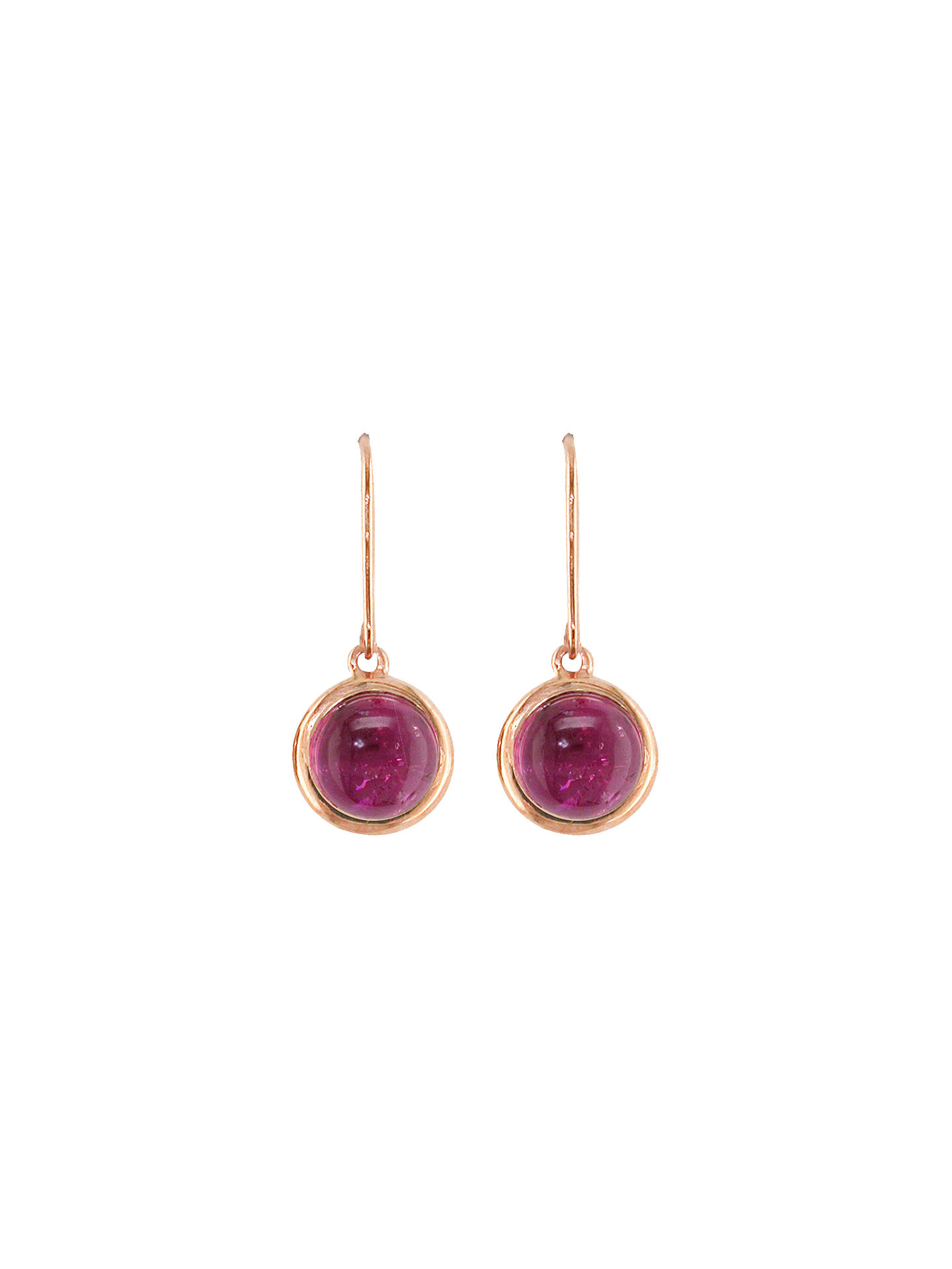 BuyLondon Road 9ct Rose Gold Pimlico Bubble Drop Earrings, Tourmaline Online at johnlewis.com