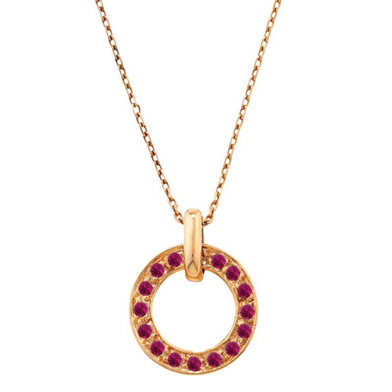 Ruby Wedding Gifts John Lewis: London Road 9ct Rose Gold Meridian Ruby Circle Pendant