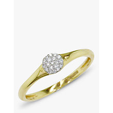 Buy EWA 18ct Gold Diamond Cluster Ring, Gold Online at johnlewis.com