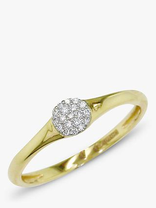 E.W Adams 18ct Gold Diamond Cluster Ring, 0.06ct, Gold