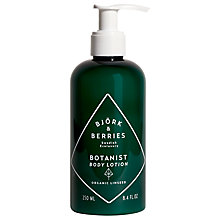 Buy Björk & Berries Botanist Body Lotion, 250ml Online at johnlewis.com