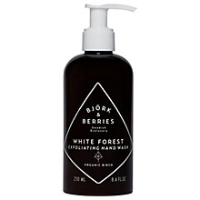 Buy Björk & Berries White Forest Exfoliating Hand Wash, 250ml Online at johnlewis.com