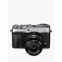 "Buy Fujifilm X-E3 Compact System Camera with XF 23mm Lens, 4K Ultra HD, 24.3MP, Wi-Fi, Bluetooth, OLED EVF, 3"" LCD Touch Screen Online at johnlewis.com"