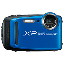 "Buy Fujifilm XP120 Waterproof, Freezeproof, Shockproof, Dustproof Digital Compact Camera with 5-25mm OIS Lens, 1080p Full HD, 16.4MP, 5x Optical Zoom, Wi-Fi, 3"" LCD Screen, Blue Online at johnlewis.com"