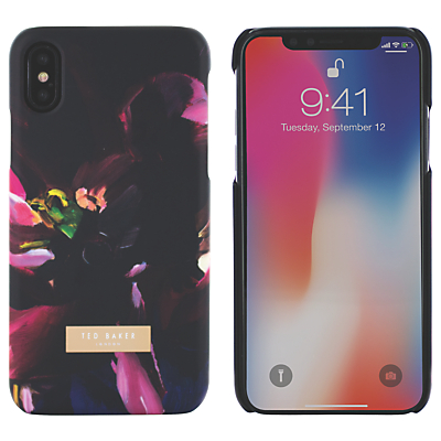 Image of Ted Baker Impressionist Bloom Case for iPhone X, Black