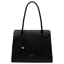 Buy Radley Bow Lane Leather Large Tote Bag, Black Online at johnlewis.com