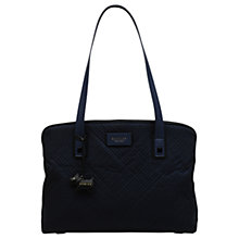 Buy Radley Deco Stripe Quilted Large Tote Bag, Ink Online at johnlewis.com