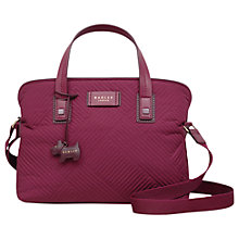 Buy Radley Deco Stripe Quilted Medium Cross Body Bag, Berry Online at johnlewis.com