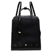 Buy Radley Hatton Row Leather Small Backpack, Black Online at johnlewis.com