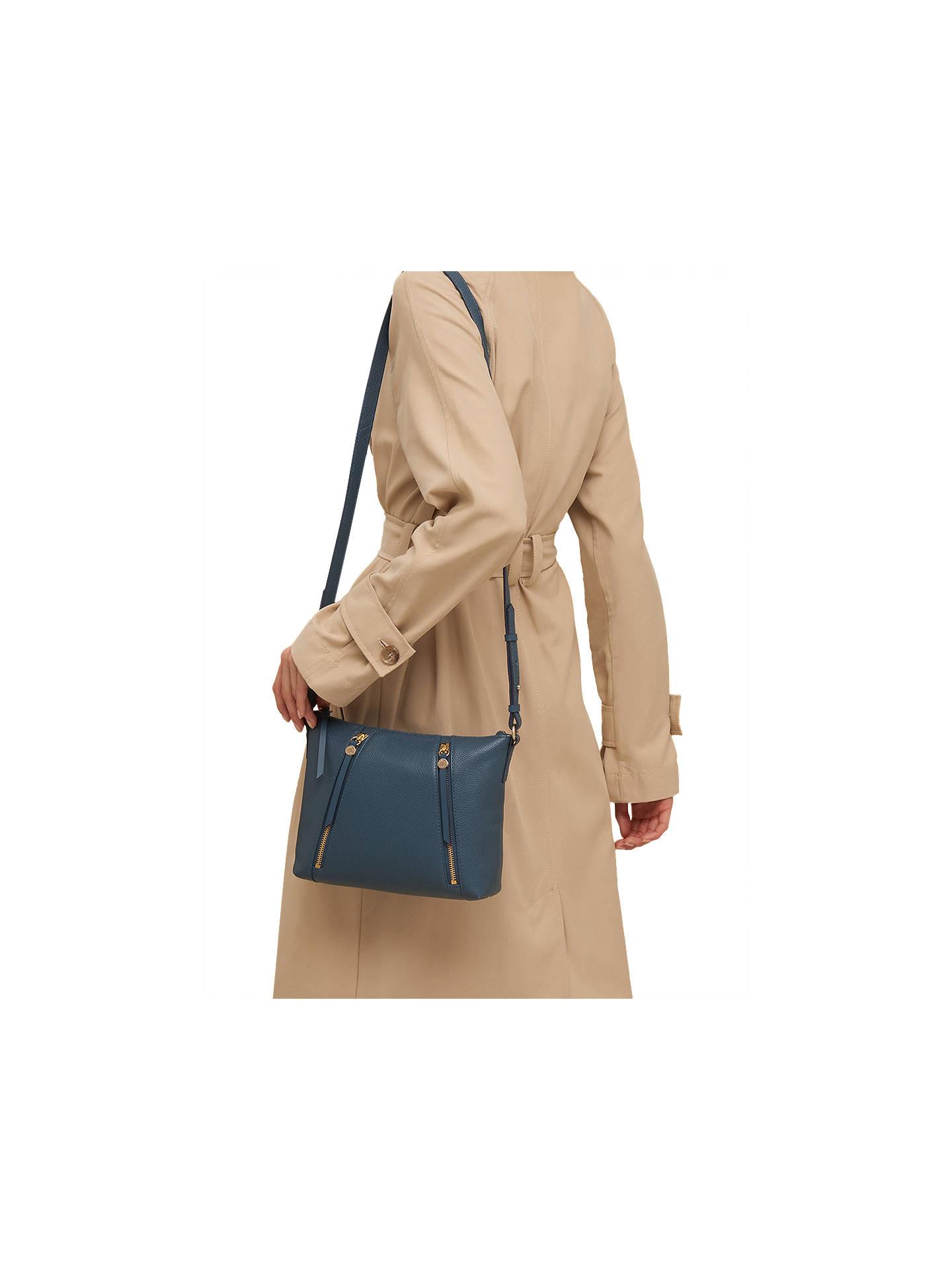 d79b29c736 Radley Fountain Road Small Leather Zip Top Cross Body Bag at John ...