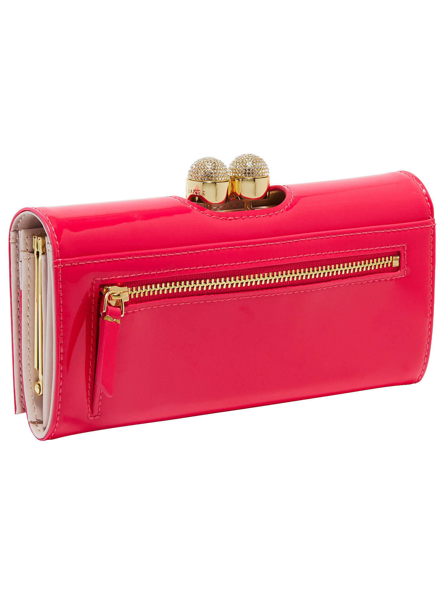 739ed802062 ... Buy Ted Baker Shirly Leather Patent Bobble Matinee Purse, Fuchsia  Online at johnlewis.com ...