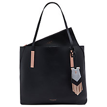 Buy Ted Baker Deeliah Tassel Leather Shopper Bag, Black Online at johnlewis.com