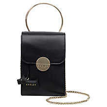 Buy Radley Bliss Crescent Leather Mini Shoulder Bag, Black Online at johnlewis.com