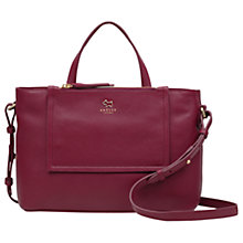 Buy Radley Farthing Downs Leather Medium Multiway Bag, Berry Online at johnlewis.com