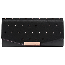 Buy Ted Baker Tedessa Leather Studded Matinee Purse, Black Online at johnlewis.com