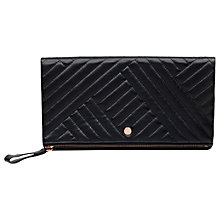 Buy Radley Larks Wood Quilted Leather Large Clutch Bag, Black Online at johnlewis.com