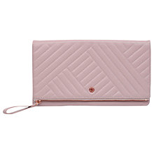 Buy Radley Larks Wood Quilted Leather Large Clutch Bag, Pale Pink Online at johnlewis.com