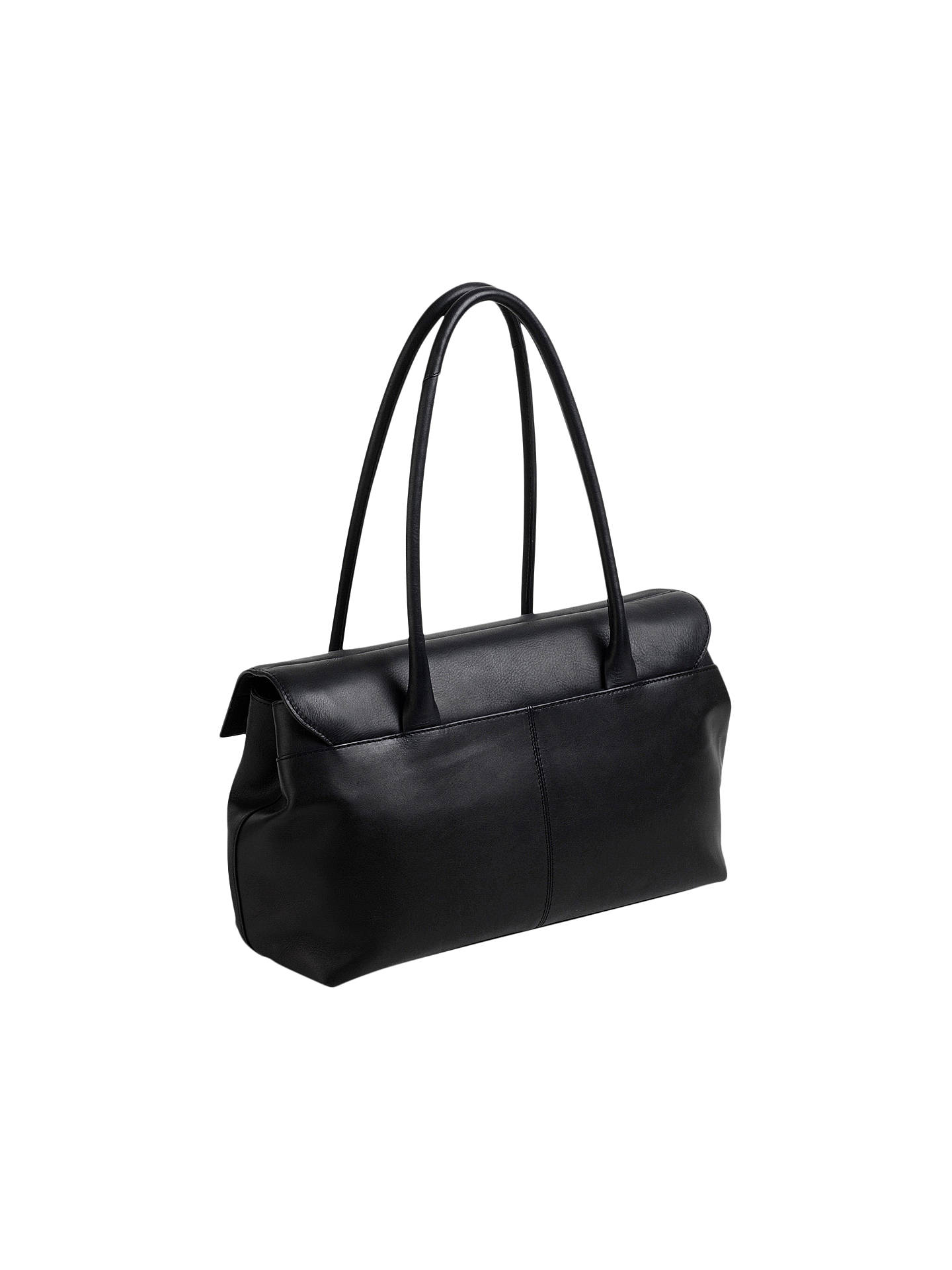 BuyRadley Burnham Beaches Leather Large Shoulder Bag, Black Online at johnlewis.com