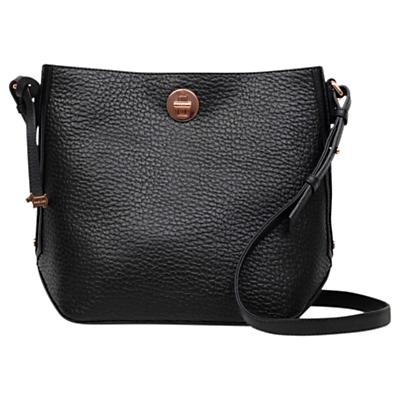 Radley Carey Street Leather Bucket Cross Body Bag, Black