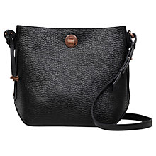 Buy Radley Carey Street Leather Bucket Cross Body Bag, Black Online at johnlewis.com