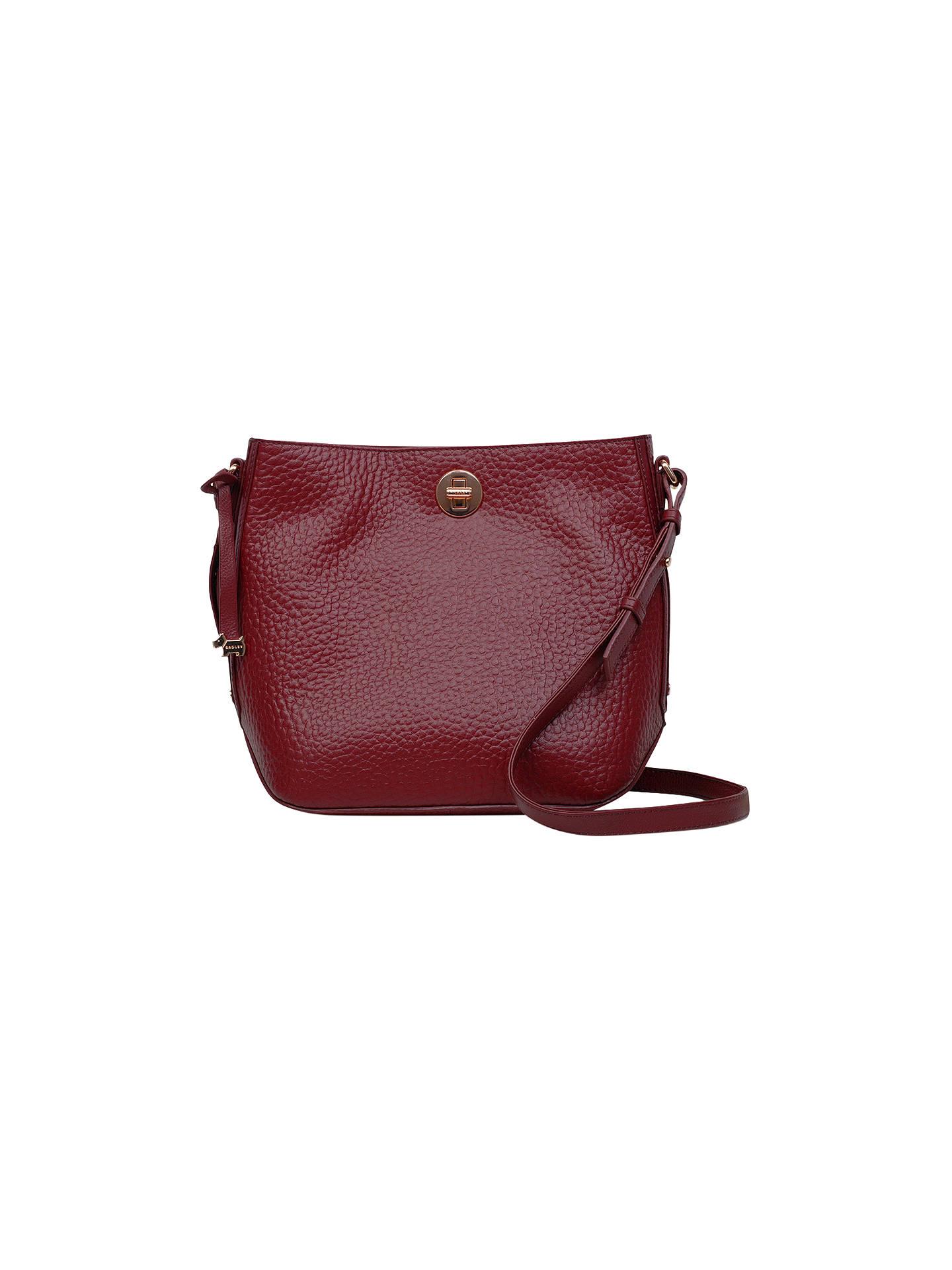 Radley Carey Street Leather Bucket Cross Body Bag Berry Online At Johnlewis