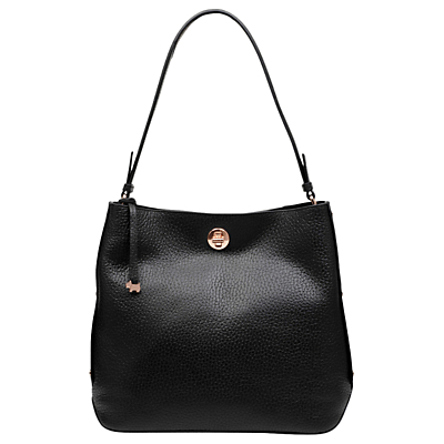 Radley Carey Street Leather Bucket Hobo Bag, Black