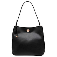 Buy Radley Carey Street Leather Bucket Hobo Bag, Black Online at johnlewis.com