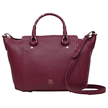 Buy Ted Baker Darling Row Leather Large Grab Bag, Berry Online at johnlewis.com